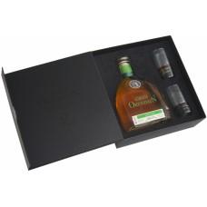 Gran Orendain Anejo 0.75 gift box with 2 glasses
