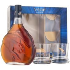 Meukow V.S.O.P. 0.7 gift box with 2 glasses
